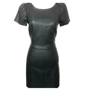 Armani Exchange AE Vegan Leather Shift Dress 🔥